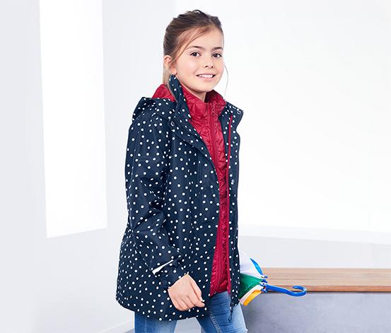 Lányka 3 az 1-ben kabát, pöttyös