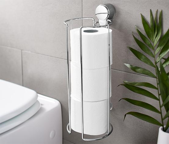 Toalettpappershållare med sugkoppar