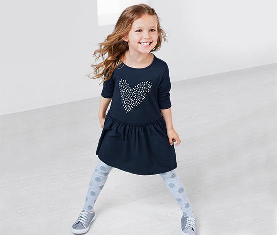 Kislány jerseyruha, szivecskés