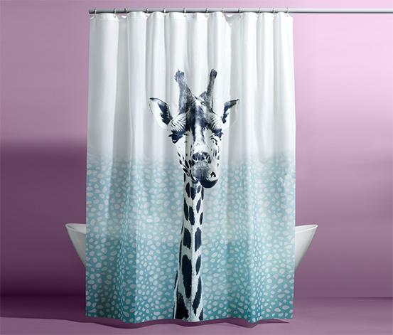 Zuhanyfüggöny, zsiráfos