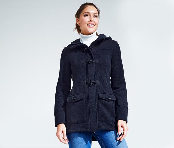 Kabát duffle coat z pleteného fleecu