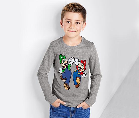 Fiú Super Mario hosszú ujjú felső