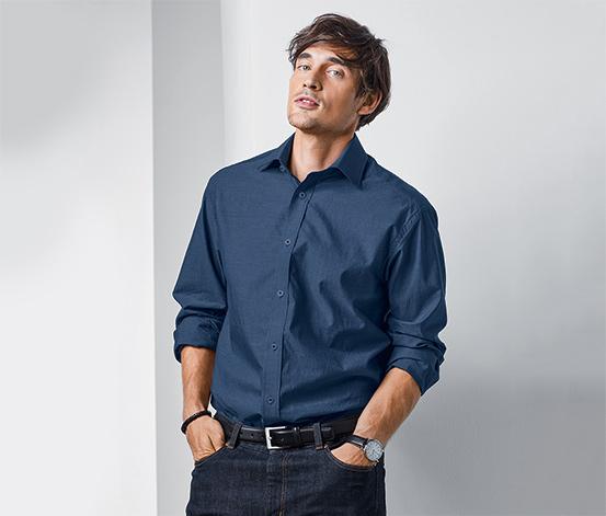 Férfi dupla szálas ing, kék