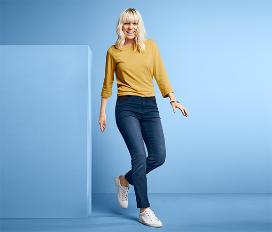 Jeans avec taille comfort