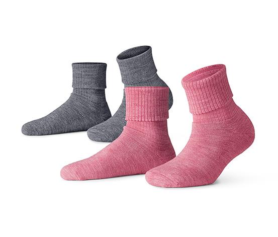 Csúszásgátló zokni, szürke-rózsaszín