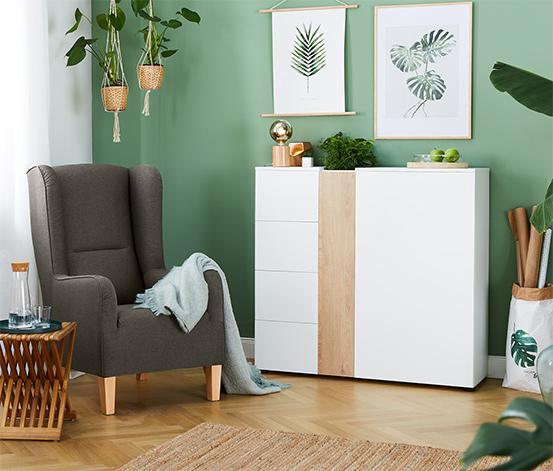 Vysoká skříňka s přihrádkou na rostliny