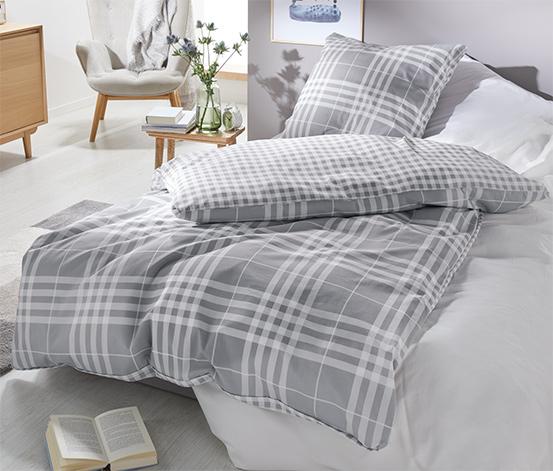 Dwustronna pościel w kratę ze wzmocnionej bawełny, na 1 poduszkę: ok. 80 x 70 cm, na 1 kołdrę: ok. 140 x 200 cm