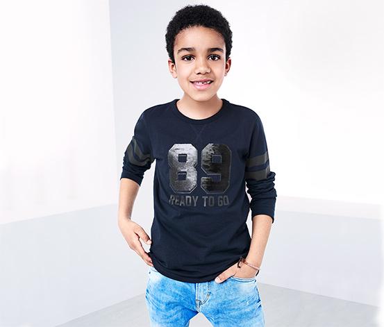 T-shirt à manches longues avec paillettes réversibles