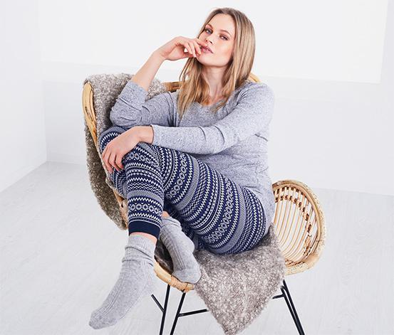 Női norvégmintás kötött leggings