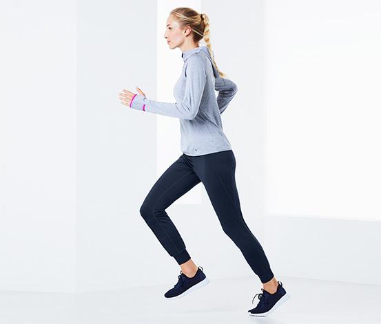 Ciepłochronne damskie spodnie do biegania
