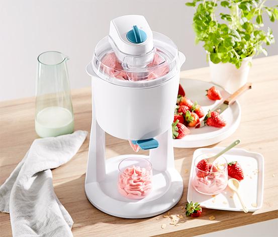 Beyaz Mavi Dondurma Makinesi