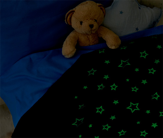 Couverture moelleuse avec motif phosphorescent