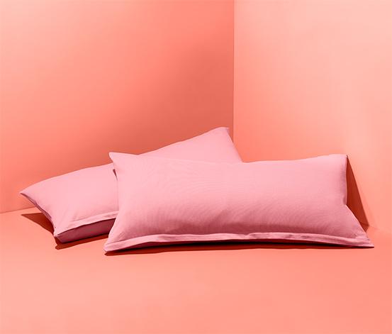 Poszewki na podłużne poduszki, 2 sztuki, różowe