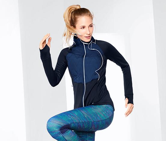 Női termo futódzseki, kék