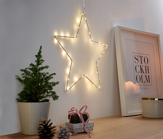 Metalowa gwiazda LED, mała