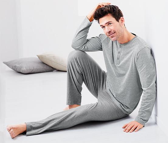 Gri Organik Pamuklu Pijama Takımı