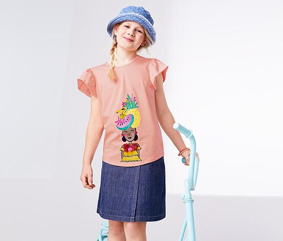 Pembe Kayısı Rengi Organik Pamuklu Tişört