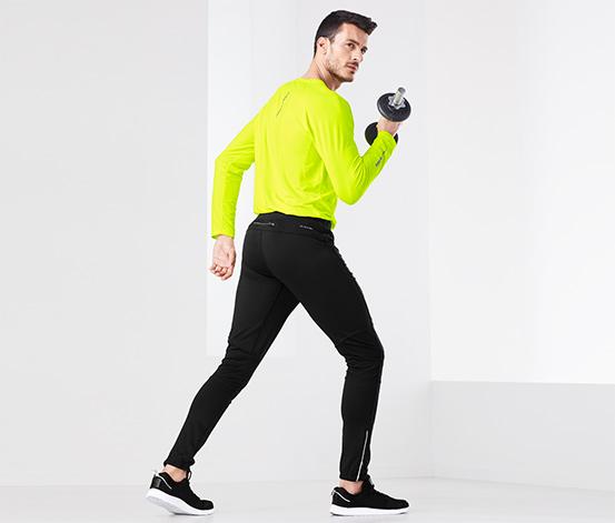 Przeciwwiatrowe męskie spodnie do biegania