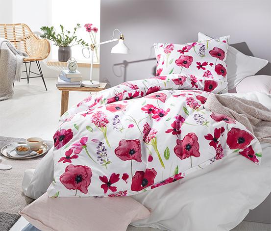 Renforcé ágynemű, virágos, egyszemélyes