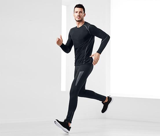 Férfi termo futónadrág, fényvisszaverő