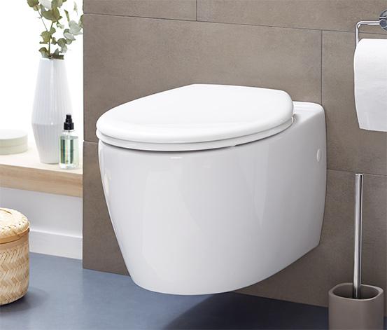 Lättstängande toalettring med sänkningsautomatik