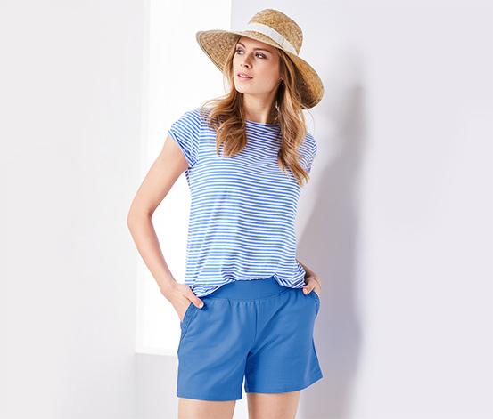 Női jersey rövidnadrág, kék