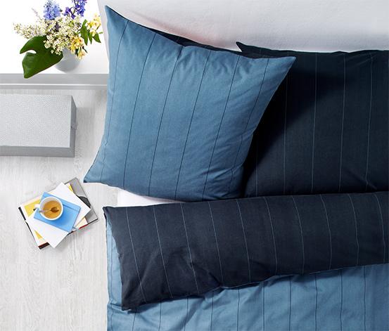 Kétoldalas pamutflanel ágynemű, csíkos, kétszemélyes