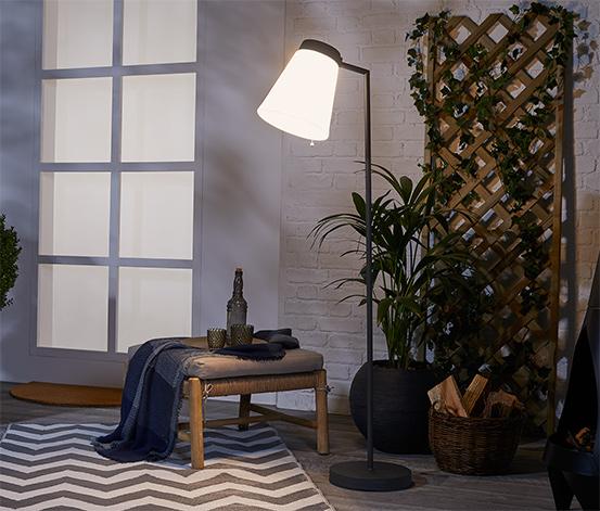 Stojaca lampa s LED Downlight, otudoorová