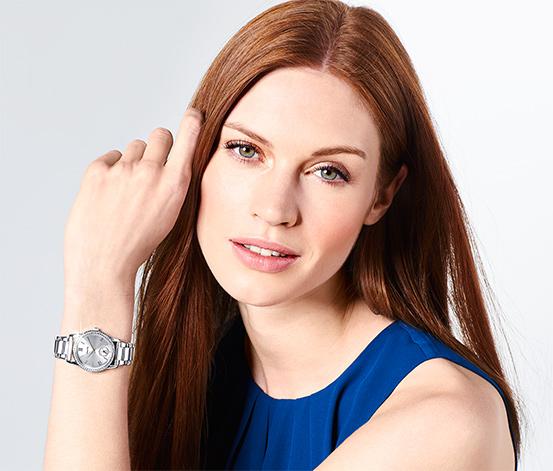 Zegarek damski z bransoletą ze stali nierdzewnej