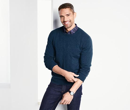 Kašmírový svetr s kulatým výstřihem