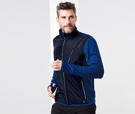 Férfi termo futódzseki, kék