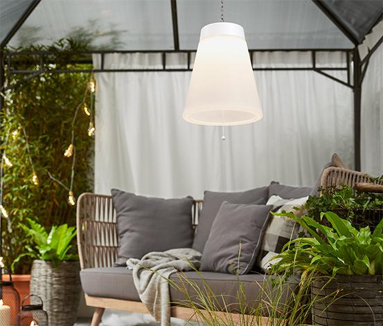 Vonkajšie závesné svietidlo s LED