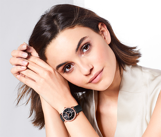 Zegarek damski na skórzanym pasku