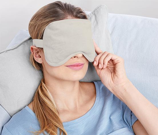 Wärme-Kälte-Augenmaske mit Gelkügelchen
