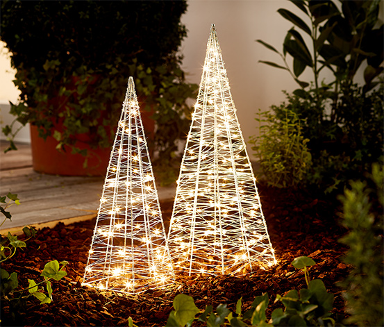 Metalowe stożki LED, 2 sztuki