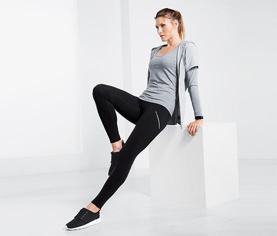 Női funkcionális sportnadrág, fekete