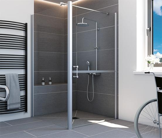 Breuer® Dusche »Elana 6«, Drehtür horizontal geteilt, inkl. Seitenwand, Türanschlag rechts