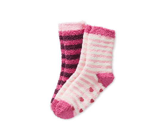 Bordo Pembe Yumuşak Çorap
