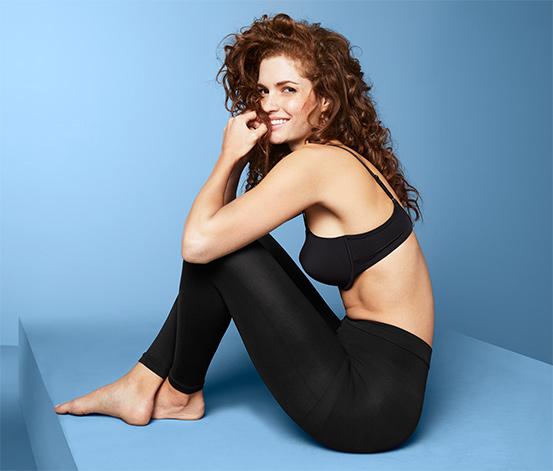 Női alakformáló leggings, fekete