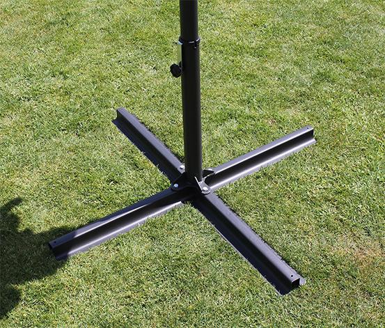 Leco-Stahl-Kreuzständer, ca. 100 x 100 cm