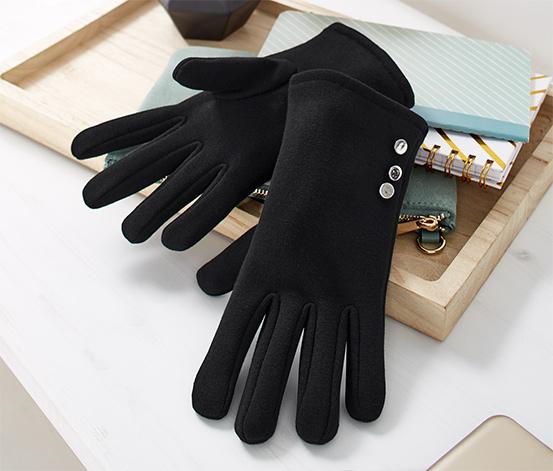 Handskar i sweatshirtmaterial