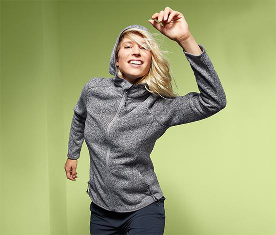 Veste en tricot polaire à capuche