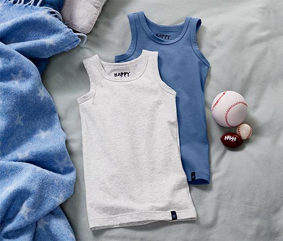 2 Feinripp-Unterhemden