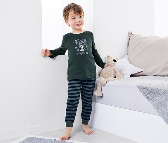 Kisfiú pizsama, zöld