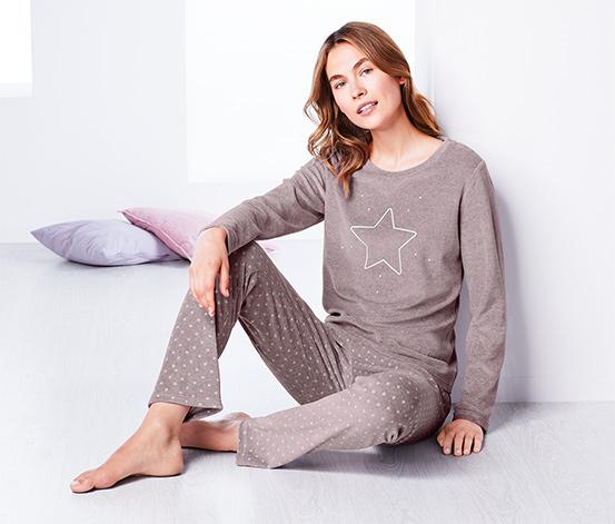 Pyžamo z plyšovej pleteniny