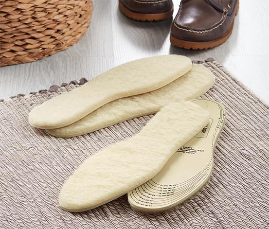 Vložky do topánok s jahňacou vlnou, 2 páry