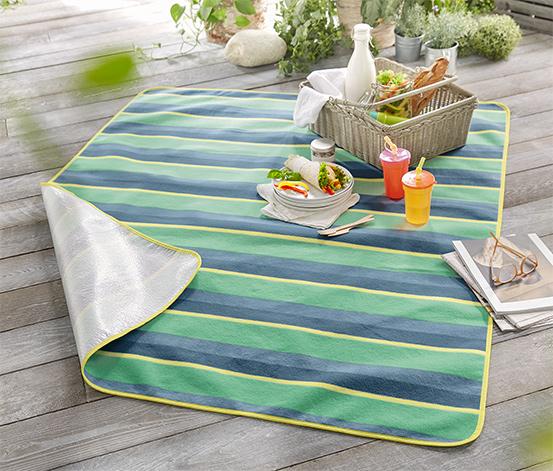 Renkli Çizgili Piknik Örtüsü