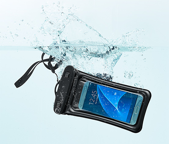 Siyah Su Geçirmez Akıllı Telefon Kılıfı