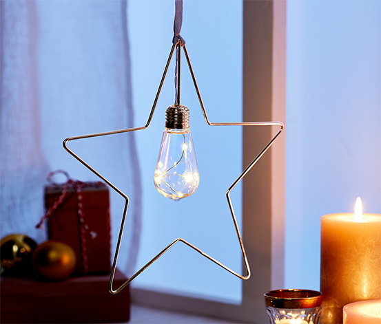 Metalowa gwiazda LED