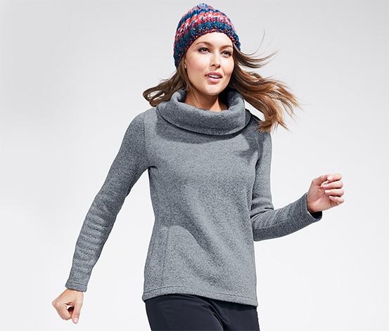 Sweter z dzianiny polarowej